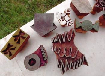木版職人に彫ってもらったアルプの模様